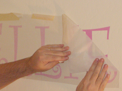 How to apply vinyl lettering - photo 4