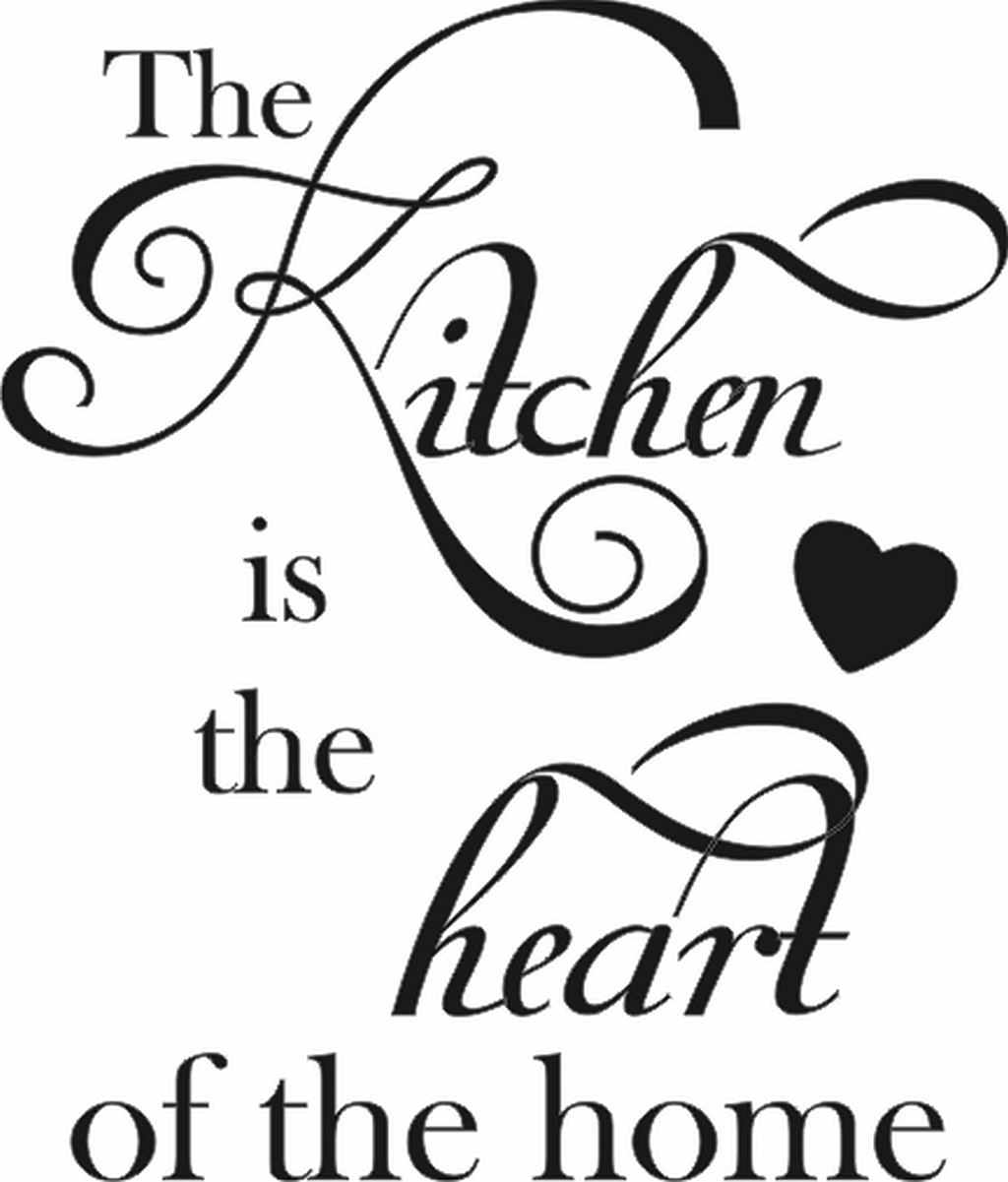 The Kitchen Is The Heart Of The Home Vertical Quote The