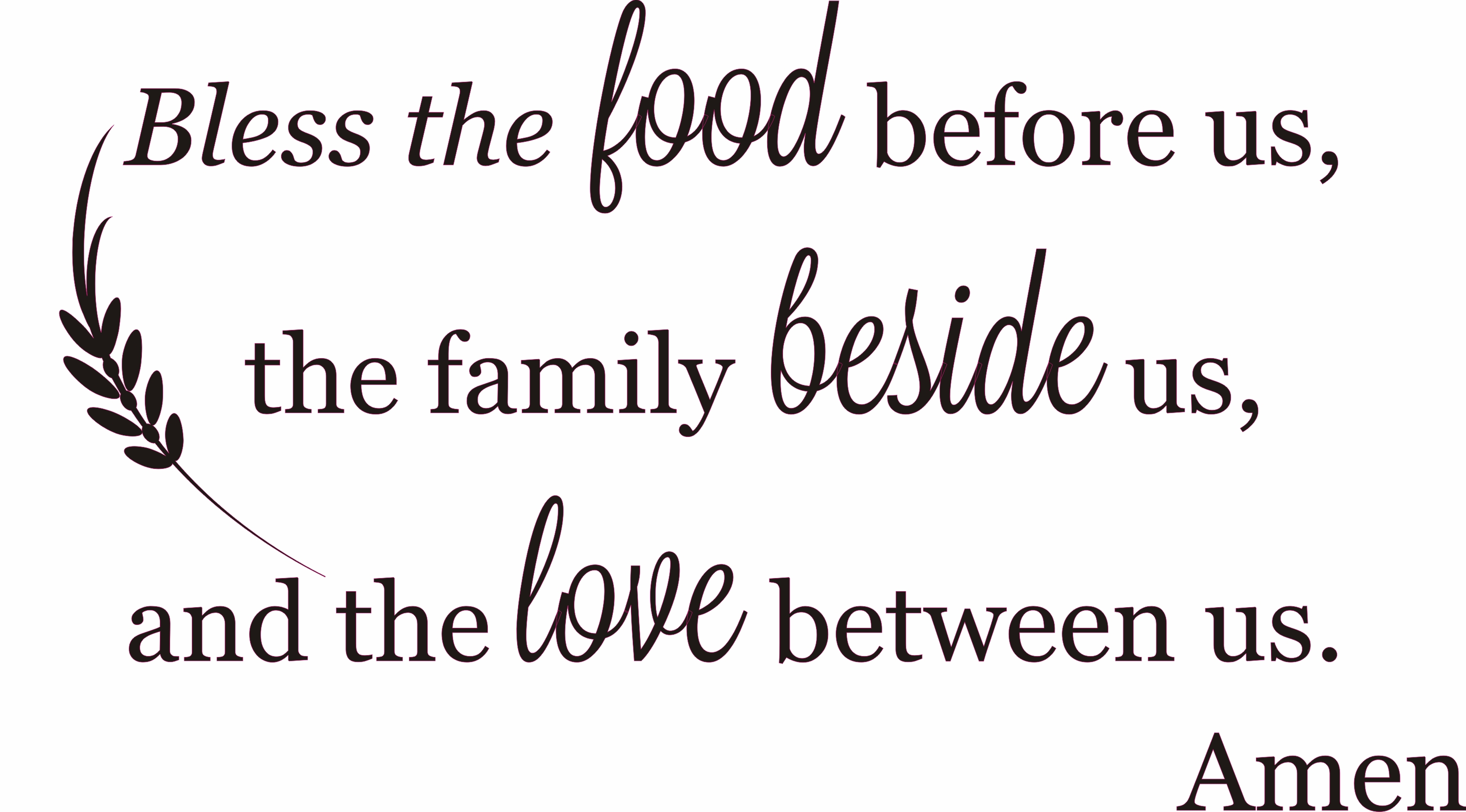 image relating to Bless the Food Before Us Printable identify Bless The Foodstuff Involving Us The Relatives Beside Us The Enjoy In between Us