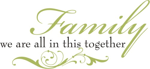 Familywe Are All In This Together Quote The Walls