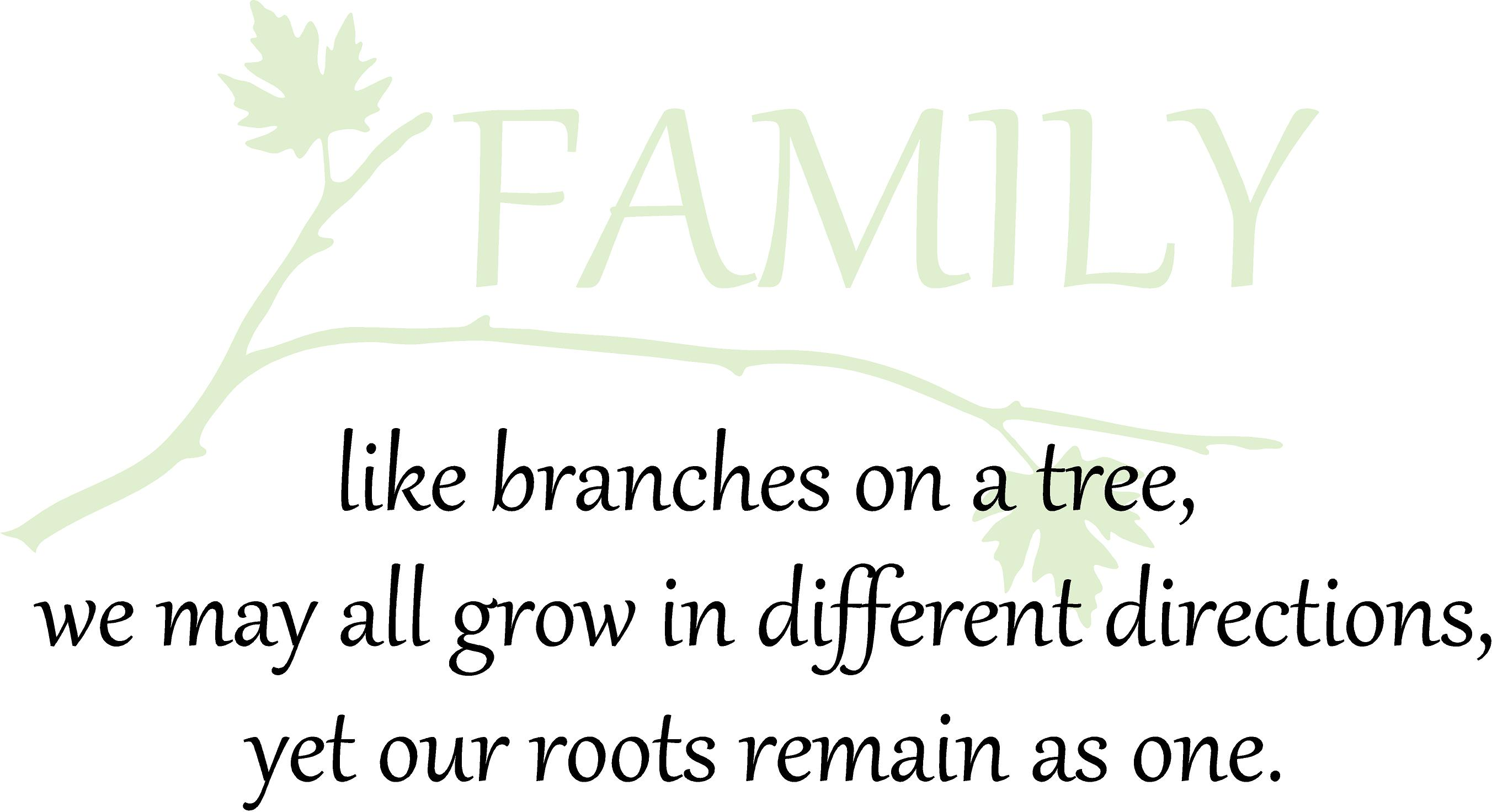 Family Like Branches Of A Tree We May Grow In Different Directions