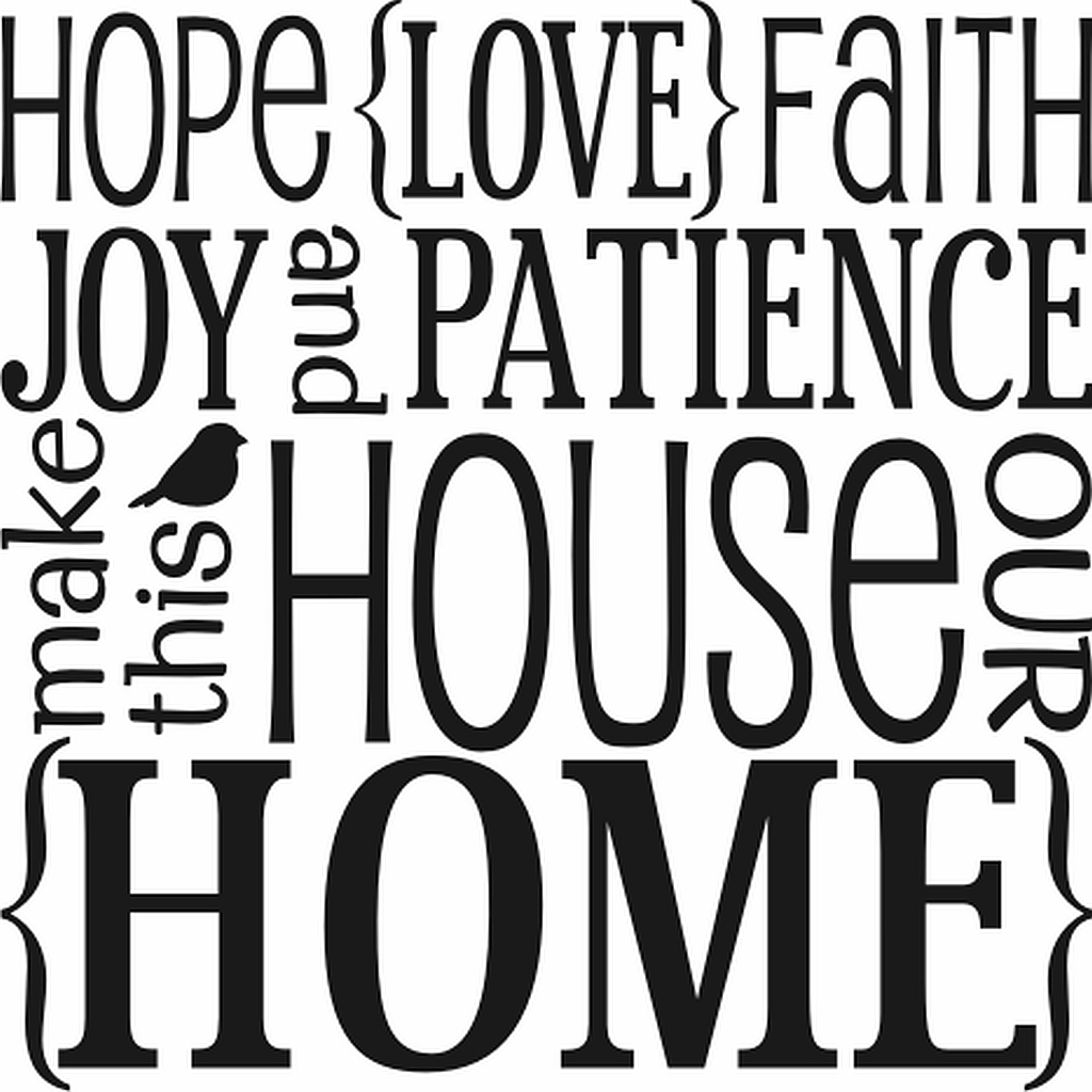 Love Faith Hope Quotes Hope Love Faith Family Subway Art  Quote The Walls