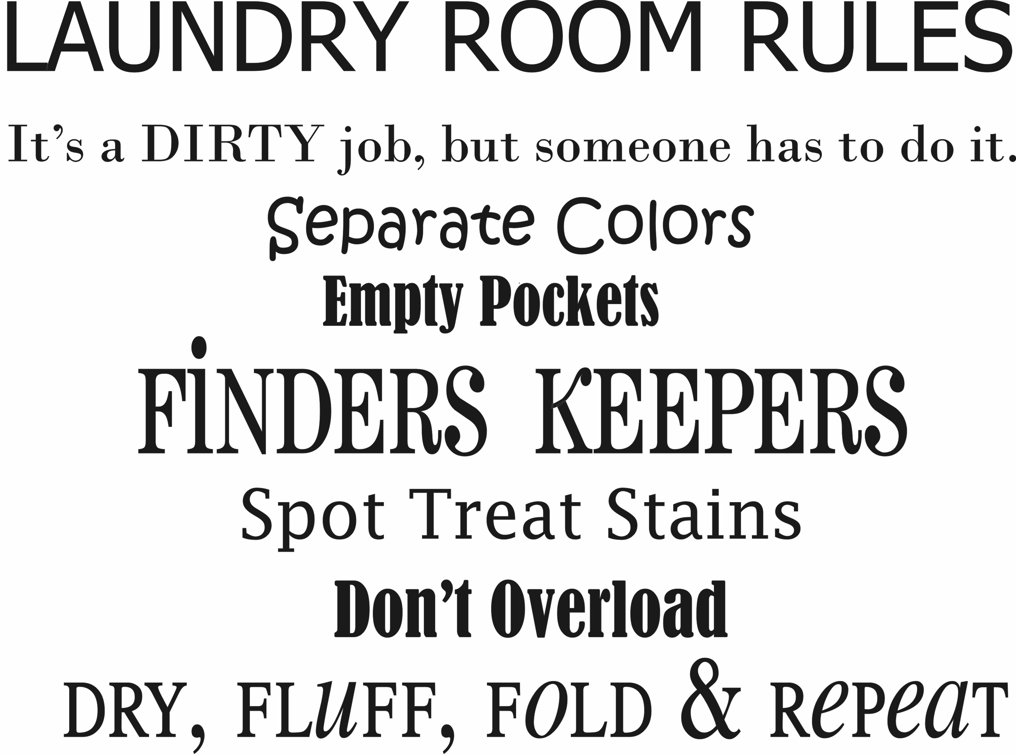 Laundry Room Sayings Laundry Room Rules  Quote The Walls