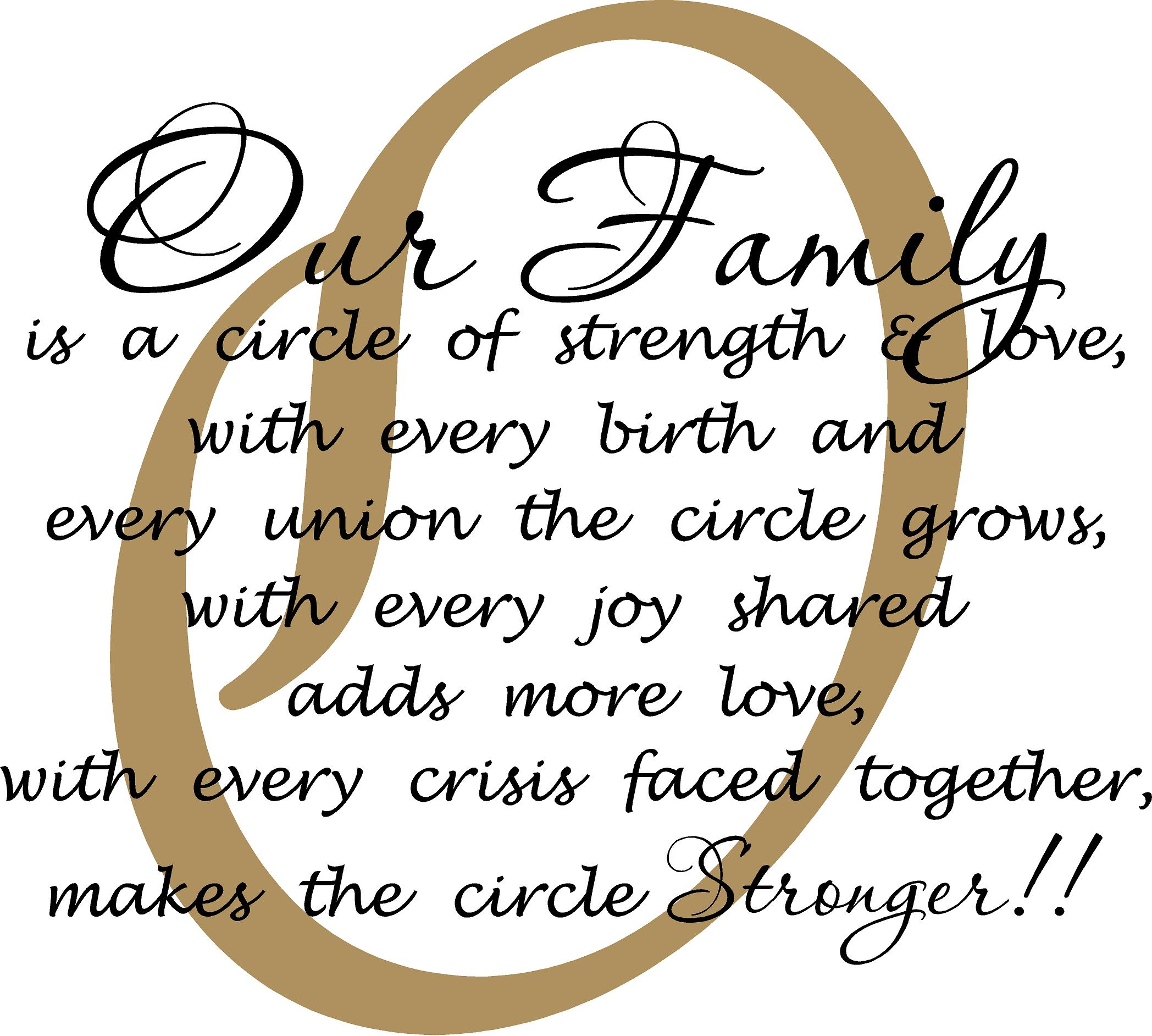 Our Family Is A Circle Quote The Walls