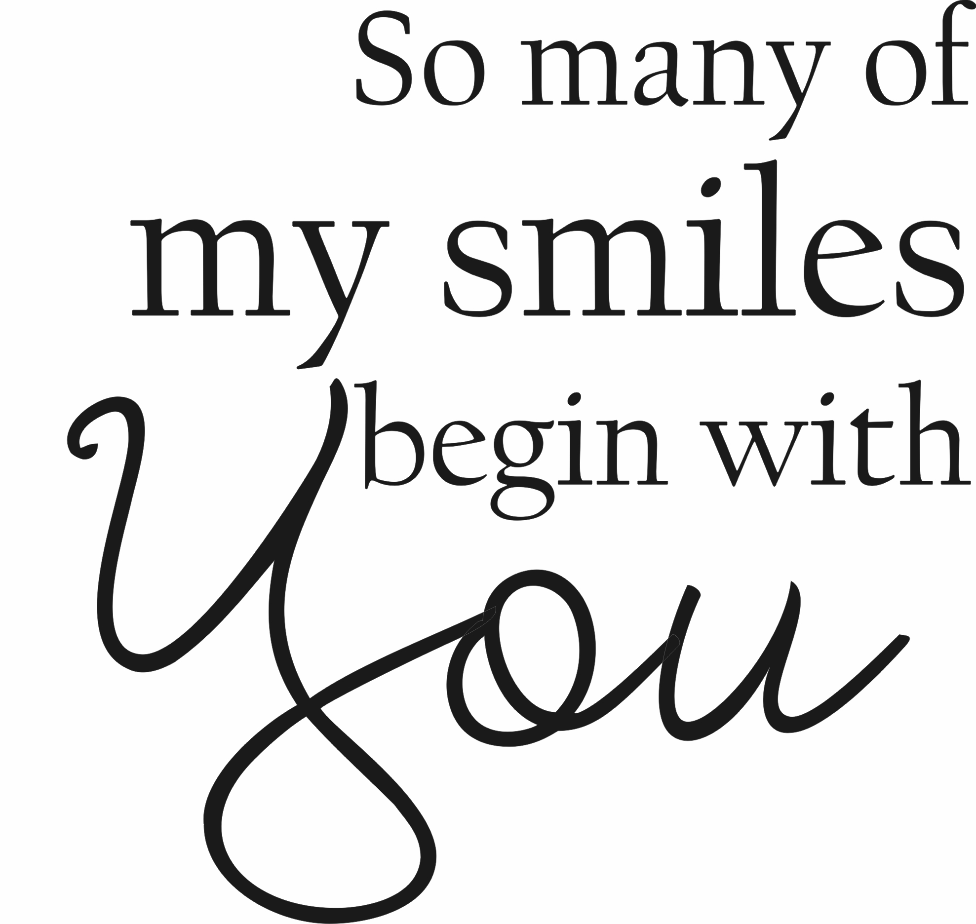 Image of: Love Quotes Bedroom Wall Quotes Develop Good Habits So Many Of My Smiles Begin With You Quote The Walls