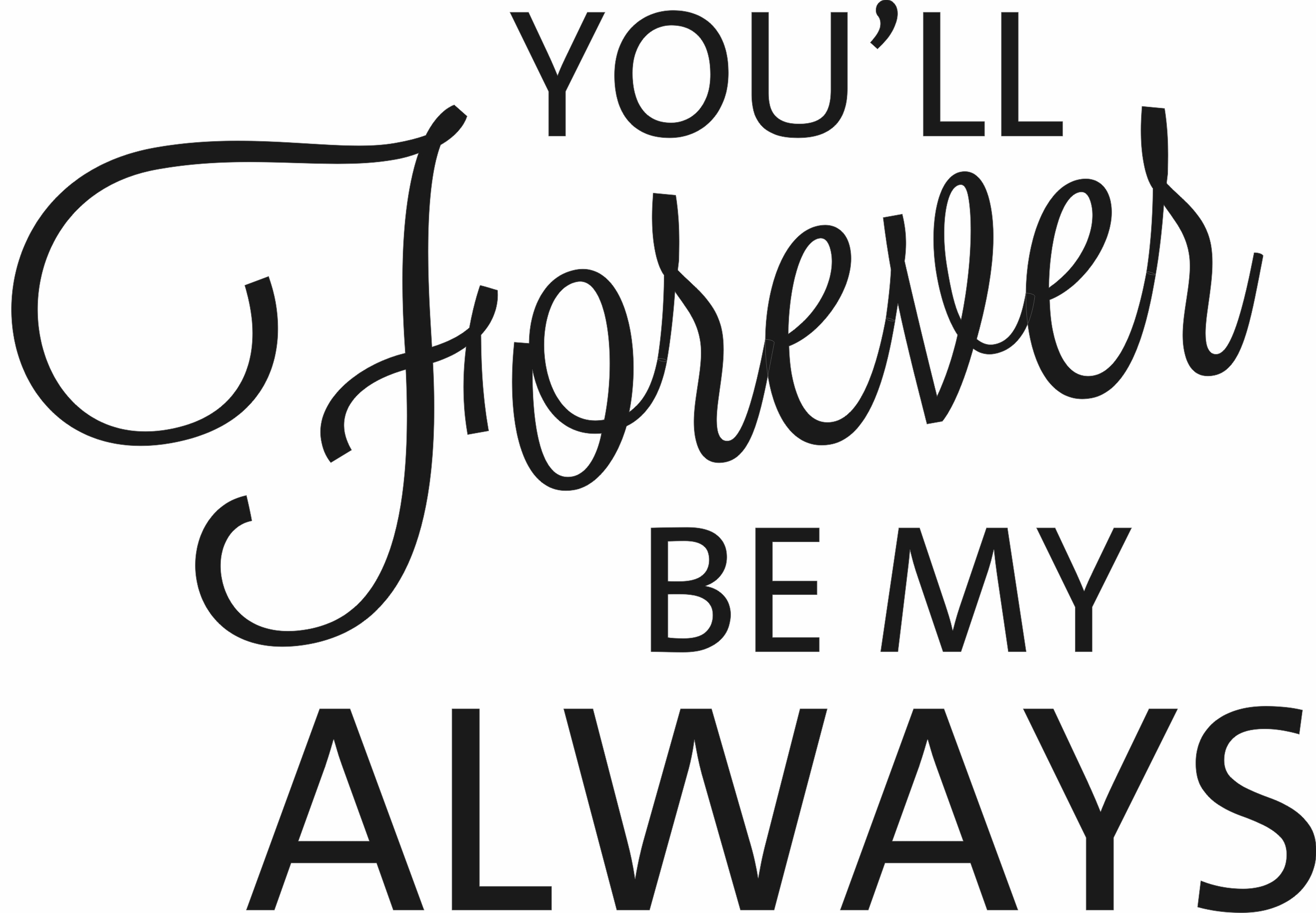 You Will Forever Be My Always Recycled Steel Metal Word Quote Wall