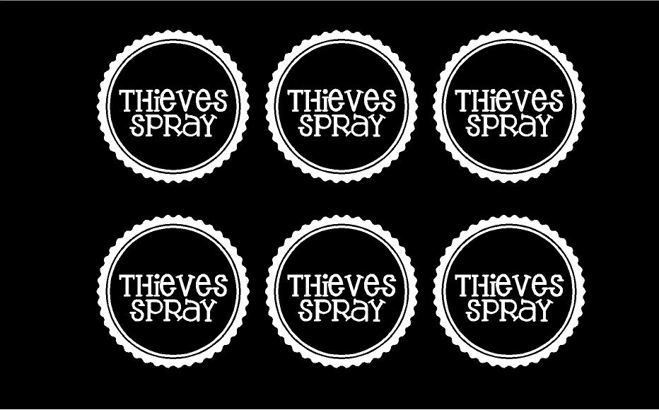 Essential Oils Thieves Spray Label Quote The Walls
