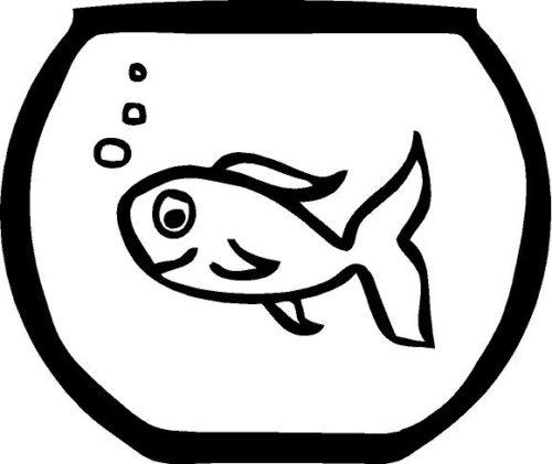 Fish Bowl Vinyl Wall Art Decal