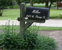 Mailbox name and address vinyl decal